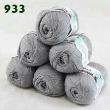 Sale 6 Skeins x50g LACE Soft Acrylic Wool Cashmere Shawls Hand Knitting Yarn 33
