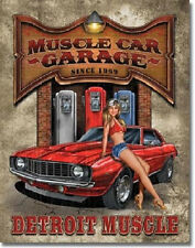 Legends Muscle Car Garage Detroit Camaro Speed Wall Art Metal Tin Sign Chevy New