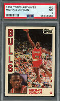 Michael Jordan Chicago Bulls 1992 Topps Archives Basketball Card #52 PSA 7