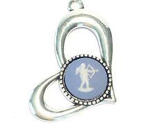Wedgwood Jewelry: Jasperware Cameo in Heart Pendant