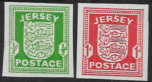 GB - Channel Islands - Jersey sg 1-2 imperf singles MNH