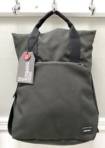 "Crumpler House of Horrors 15"" Laptop Backpack Bag Gunmetal Gray Red Interior NWT"