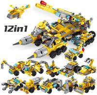 Bausteine Multifunktions Auto Technologie Spielzeug Kinder Modell Geschenk 12in1