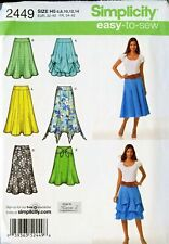 Misses Skirts Simplicity Pattern 2449 Sz 6-14,14-22  Karen Z Design Easy Uncut