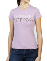 Trussardi Action Tee-shirt Lavande Logo À Manches Courtes