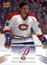 2008-09 Upper Deck Montreal Canadiens Centennial Set Pete Mahovlich Montreal