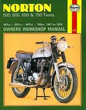 Norton 500, 600, 650 and 750 Twins Owners Workshop Manual, No. 187:-ExLibrary