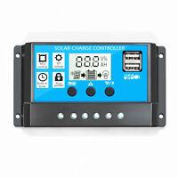 30A 12V/24V Solar Charge Controller - Battery Regulator - Dual USB - Auto / Home