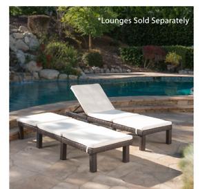 Caesar Cream Outdoor Chaise Lounge Cushion