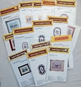 Vintage Louise Gregoire Petit Point Needlepoint Charts  All NIP  YOU CHOOSE