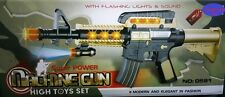 SUPER POWER BATTERY OPERATED MACHINE GUN TOY WITH LIGHTS AND SOUND KIDS TOY GUN