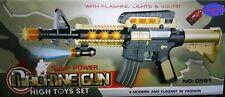 SUPER Power A batteria Machine Gun TOU CON LUCI E SUONI BAMBINI PISTOLA GIOCATTOLO