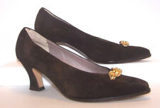 Rangoni Florence Shoes Pumps Women Size 5.5 B Solid Brown Suede Leather