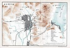 Japan Kyoto 京都市 Mikado 1903 small orig. map + guide (37 p.) Fushimi 伏見区 Otsu 大津市