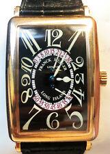 Franck Muller Mens Long Island Retrograde 18K Rose Gold Wrist Watch 1100 DS R