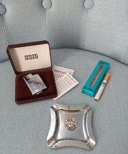 lotto vecchi accendini posacenere sigaretta gas lighter accendino silver match