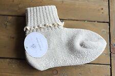 Soft Ones Women's Cuff Slipper Socks w/ Anti-Skid