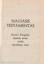 New Testament in LITHUANIAN Book of Revelation Gospels Acts of the Apostles 1972