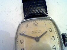 VINTAGE SQUARE WESTCLOX SUB SECOND DIAL WRIST BEN WATCH RUNS FAST