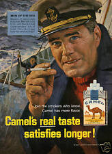 1965 Camel Cigarette Sailor Captain Print Ad Men of the Sea