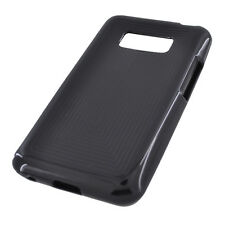 For LG Optimus Elite LS696 TPU CANDY Gel Flexi Skin Case Cover Black Plaid