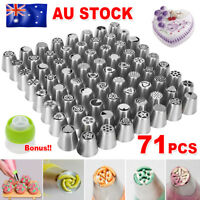 71Pcs/Set Russian Flower Piping Tips Cake Decorating Pastry DIY Icing Nozzles