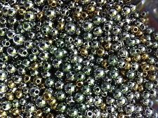 500 x 4 5 6 8mm Metallic Beads Mix Shining Spacers Crafts & Jewellery Making