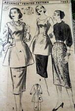 *LOVELY VTG 1950s BLOUSE SKIRT & APRON ADVANCE Sewing Pattern 15/33