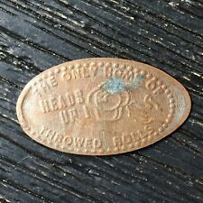 Home Of Throwed Rolls Heads Up Smashed pressed elongated penny P2273