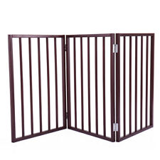 "24"" Panel Folding Free Standing Gate Versatile Cat Dog Pet Fence Home"