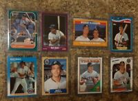 (8) Matt Nokes 1987 1988 Fleer Donruss Topps Score Glossy Rookie Card lot RC