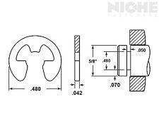 E-Clip External Retaining Ring Clip 5/8 SS PV (25 Pieces)