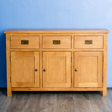 Solid Oak Book Case Sideboard and 2 Wine Tables