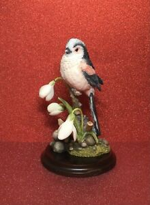 COUNTRY ARTISTS BIRDS - LONG TAILED TIT WITH SNOWDROPS 03093