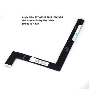 """Apple iMac 27"""" A1312 2011 LCD LVDS LED Screen Display Flex Cable 593-1352 A  B"""