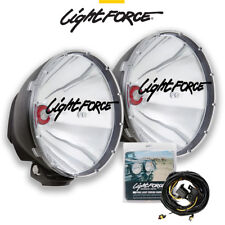 LIGHTFORCE 240 XGT HID 50 WATT PAIR DL240XGT50 DRIVING LAMPS LIGHTS 50W + WIRING