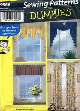 Uncut Simplicity Sewing Patterns for Dummies  #9566 Window Treatments