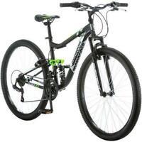 Mens Mountain Bike 27.5 Mongoose Ledge 2.1 21 speed Dual Suspension Black