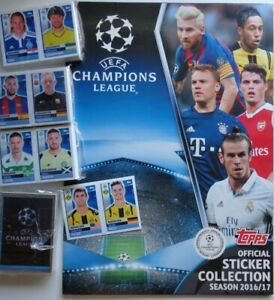 UEFA Champions League TOPPS complete sticker collection album 2016 17 PULISIC Rc