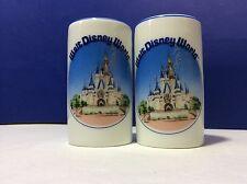 Disney Salt & Pepper Shakers Retired Magic Kingdom Ceramic Set