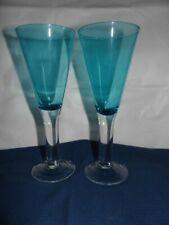 Blue Wine Glasses x 2