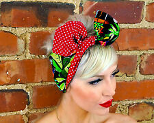 Festival tropical Pin up Rockabilly wide Reversible Wired Headband Headwrap