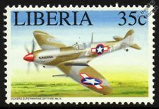 WWII USAAF Supermarine SPITFIRE Mk.IX Mint Aircraft Stamp (1994 Liberia)