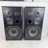 Pair Of Kenwood LS-76 Speakers 8ohm 80W Vintage Retro Tested & Working