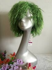 NEW green  short  curly   cosplay  Hot plasma  wig WOMAN WIGS