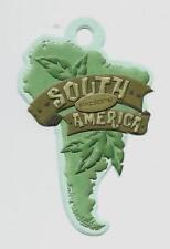 SOUTH AMERICA Embossed Scrapbook Tag