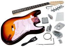 Solo Strat Style DIY Guitar Kit, Basswood Body, Sunburst, STK-1SB