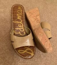 Sam Edelman Wedge Cork Sandals. Beige Women's Size 7.5