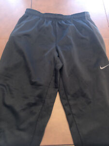 Men's Nike ThermaFit Athletic Pants Joggers Sweatpants Black/Gray-VGUC   XXL