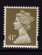GB 1993 Machin Definitive 41p drab SG y1780 (2B) MNH